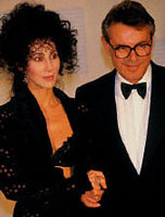 Cher with Milos Forman